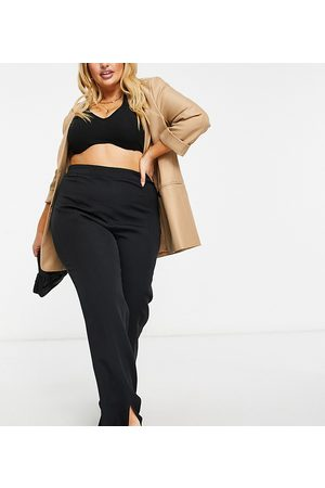 Outrageous Fortune Ženy Legíny - Split front trousers in black