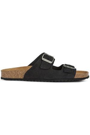 Geox Kožené pantofle