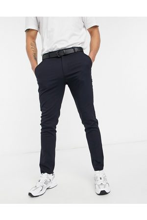 ASOS Muži Úzké nohavice - Skinny suit trousers in navy