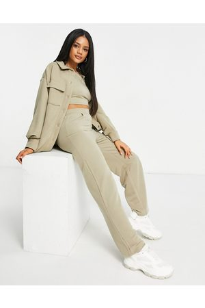 ASOS Jersey 3 piece suit wide dad track pant-Green