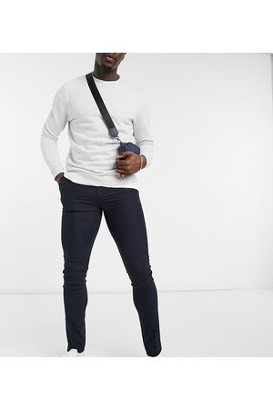 ASOS Muži Úzké nohavice - Tall skinny suit trouser in navy