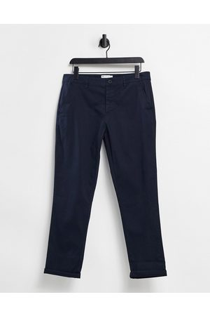 ASOS Muži Chino - Slim chinos in navy