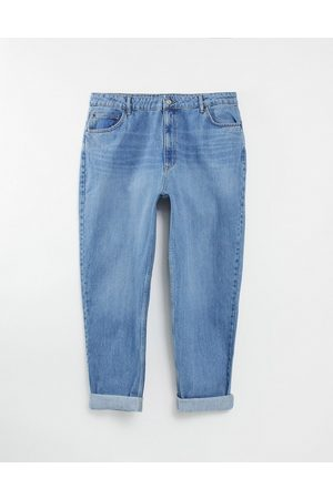 ASOS Hourglass high rise 'slouchy' mom jean in midwash-Blue