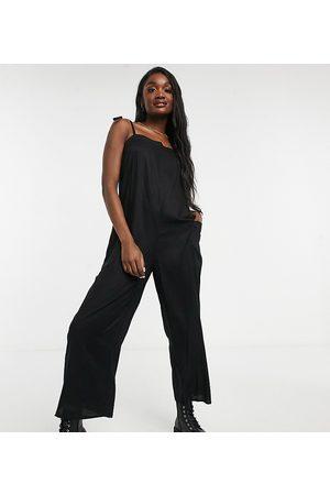 ASOS Ženy Overaly dlouhé - ASOS DESIGN tall cami minimal pocket jumpsuit in black