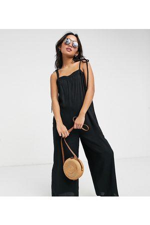 ASOS Ženy Overaly dlouhé - ASOS DESIGN petite cami minimal pocket jumpsuit in black