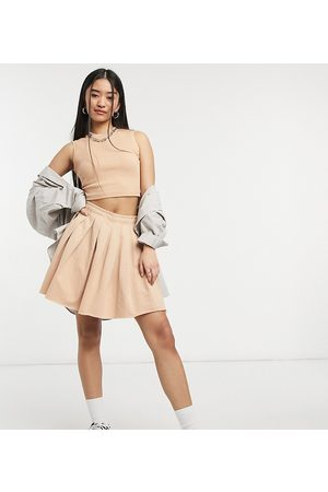 COLLUSION Ženy Krátké - Pleated mini skirt in sand co-ord-Beige