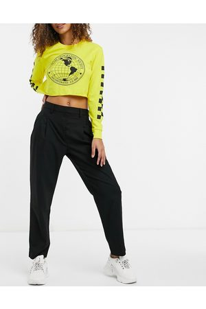 Monki Tyra tailored trousers in black