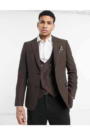 Harry Brown Muži Saka - Wedding wool mix slim fit suit jacket