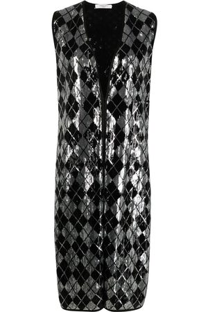 CHARLOTT Sequin-embellished sleeveless jacket