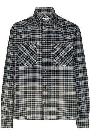 OFF-WHITE Muži Volnočasové - Spliced flannel shirt
