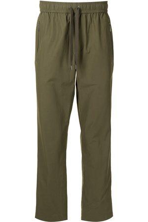 Ports V Side stripe straight-leg track pants