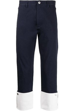 Ports V Turn-up contrast hem chino trousers