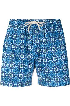 PENINSULA SWIMWEAR Muži Šortky - Poltu geometric swim shorts