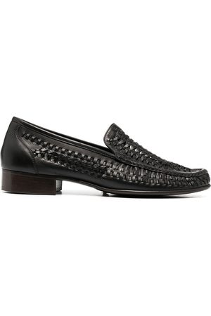 Saint Laurent Muži Nazouváky - Woven-detail loafers