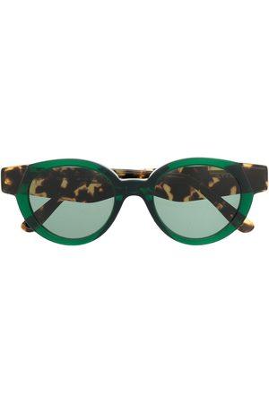 KYME Muži Sluneční brýle - Round tortoise-effect sunglasses