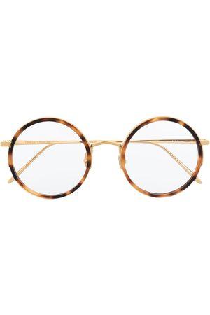 Linda Farrow Tortoiseshell-rim round frame glasses