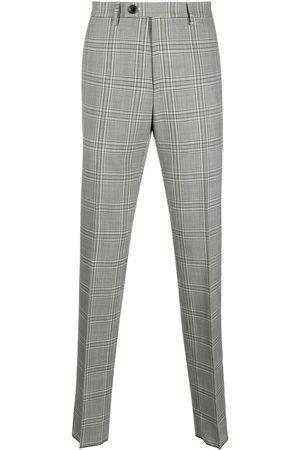 Vivienne Westwood Muži Společenské - Checked straight tailored trousers