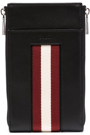 Bally Muži Kryty na mobil - Logo-stripe leather phone case