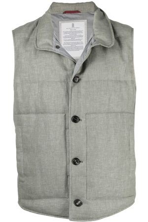 Brunello Cucinelli Padded buttoned gillet