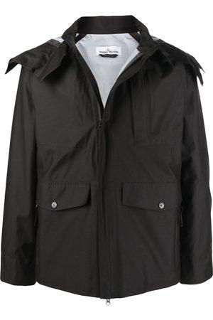 Stone Island Hooded long-sleeved rain jacket