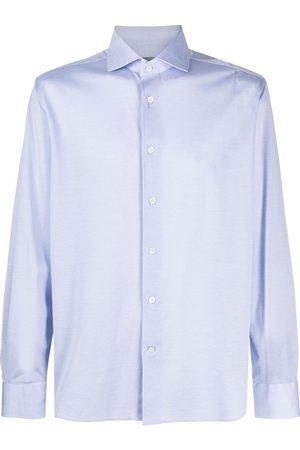 corneliani Muži S dlouhým rukávem - Long-sleeve curved-hem shirt