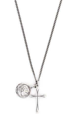 EMANUELE BICOCCHI Náhrdelníky - Coin cross pendant necklace