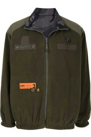 AAPE BY A BATHING APE Muži Fleecové - Shell-panelled fleece jacket
