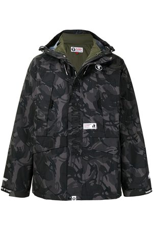 AAPE BY A BATHING APE Camouflage layered jacket