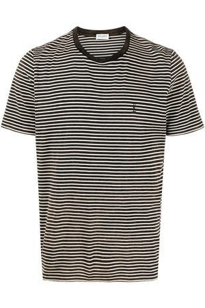 Saint Laurent Embroidered logo striped T-shirt