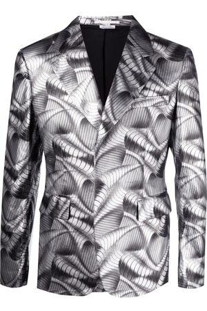 Comme des Garçons Metallic wave print blazer