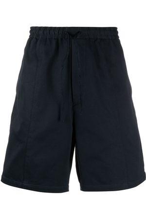 Emporio Armani Wide-leg cotton track shorts