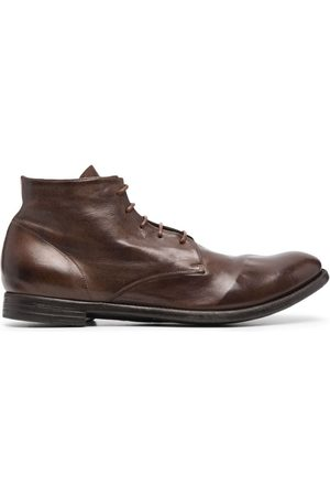Officine creative Grained buffalo leather boots
