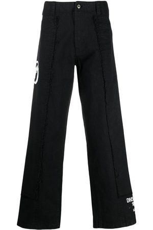 SANKUANZ Slogan-print flared trousers