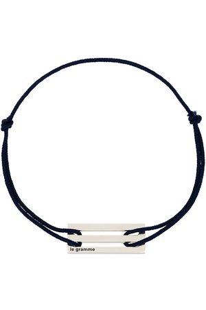 Le Gramme Muži Náramky - Sterling silver Le 2.5g cord bracelet
