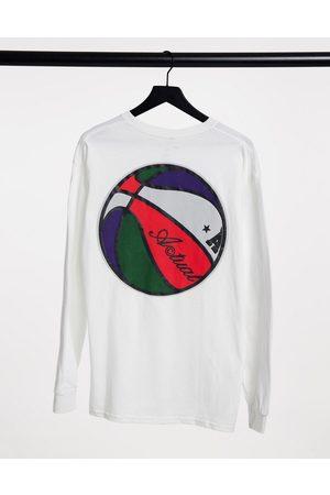 ASOS Muži S dlouhým rukávem - Long sleeve t-shirt in white with back print