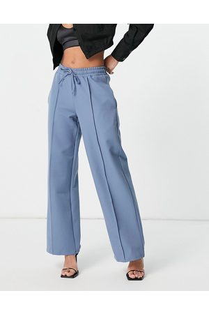 4th & Reckless Tie string trousers in dusty blue