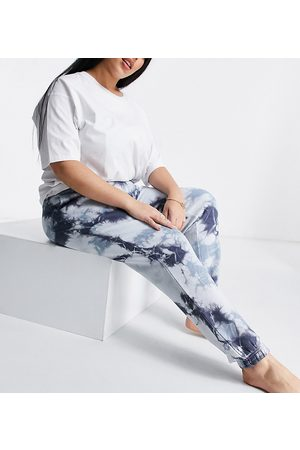 The Wellness Project Ženy Tepláky - Plus Lounge joggers in navy tie dye