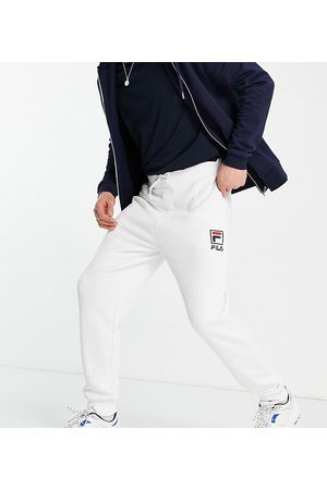Fila Muži Tepláky - Box logo joggers in white exclusive to ASOS