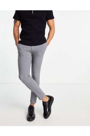 ASOS Muži Chino - Super skinny cropped smart trouser in grey