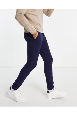 ASOS Muži Chino - Super skinny smart trouser in navy