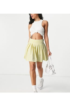 Missguided Ženy Krátké - Pleated tennis skirt in yellow