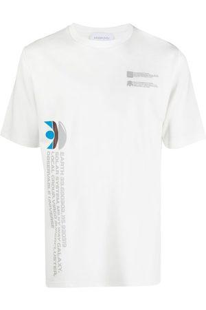 Xander Zhou S krátkým rukávem - Milky Way slogan T-shirt