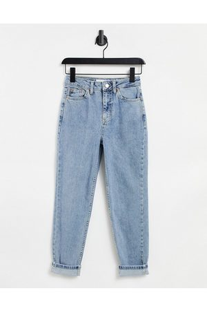 Topshop Ženy Mom džíny - Premium jeans in bleach-Blue