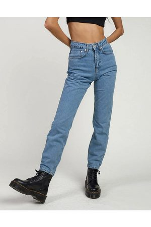 The Ragged Priest Mom jeans in light wash denim-Blue