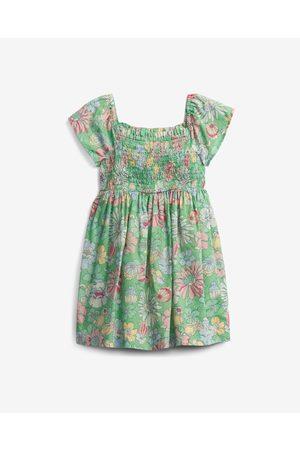 GAP Dívky S potiskem - Smocked Floral Šaty dětské