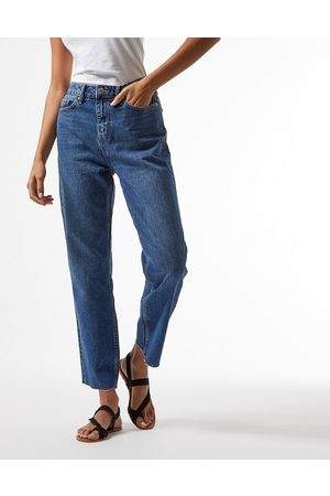 Miss Selfridge High-waist slim leg jean in indigo wash-Blue