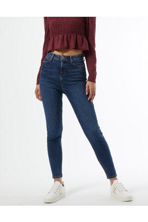 Miss Selfridge Emily high-waist skinny jeans in dark wash blue