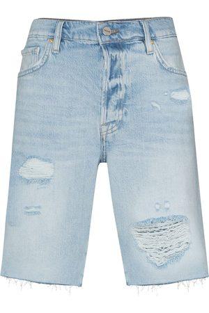 Frame Ženy Bermudy - Le Slouch distressed Bermuda shorts