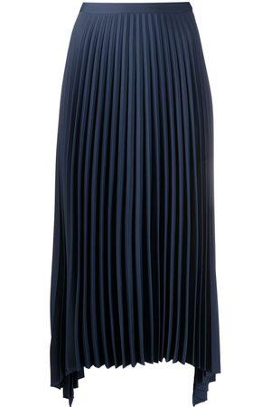 THEORY Pleated midi-length skirt