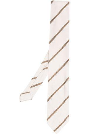 LARDINI Muži Motýlky - Stripe-pattern silk tie